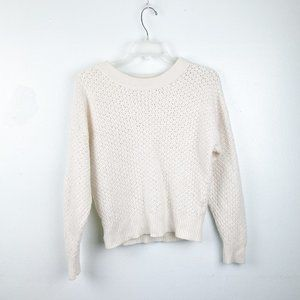 Joie | White Knit Sweater Cashmere Wool Blend